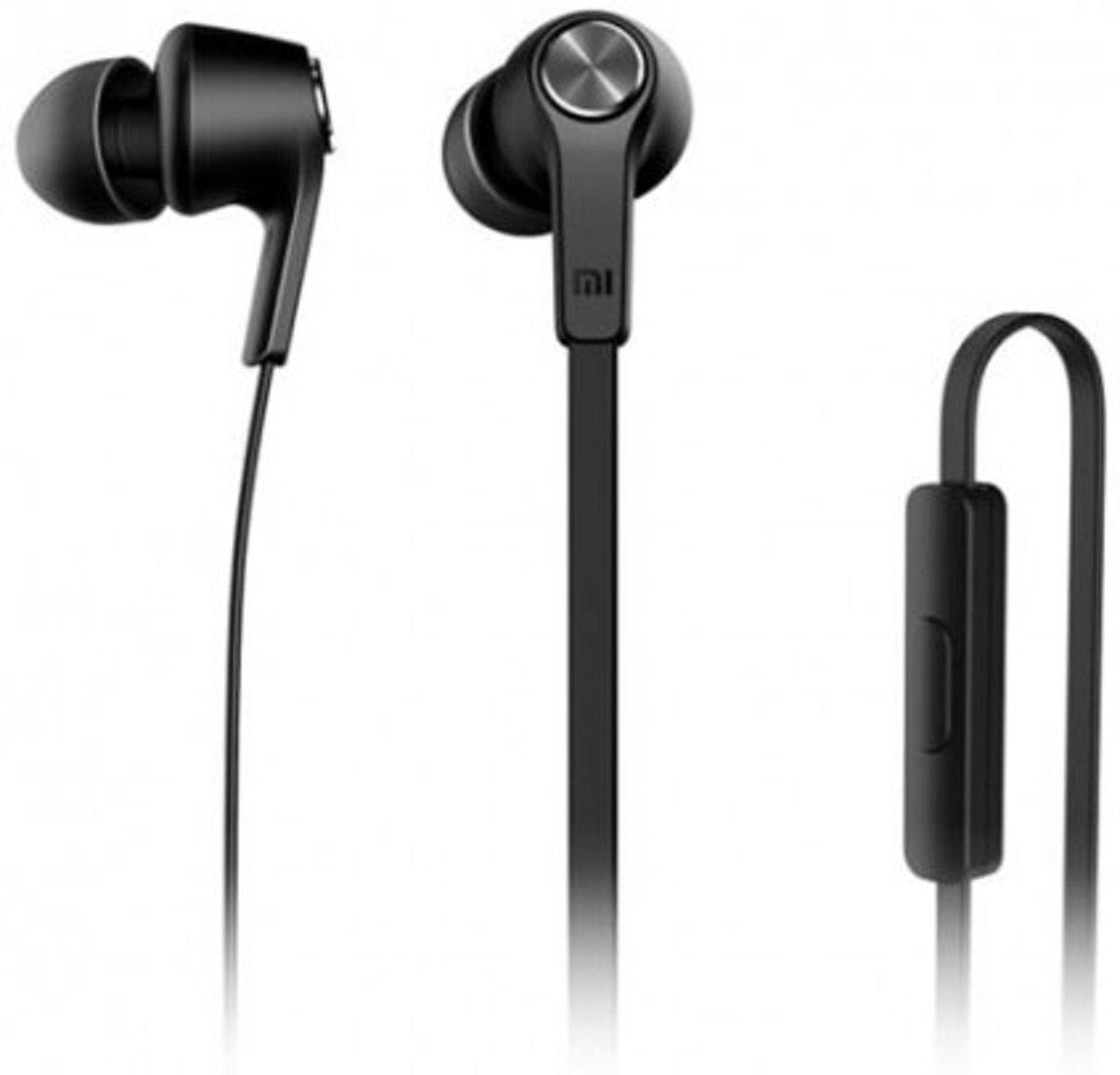 Xiaomi Koptelefoon Premium Headphones Piston In-Ear Oordopjes Wire Control + MIC Black
