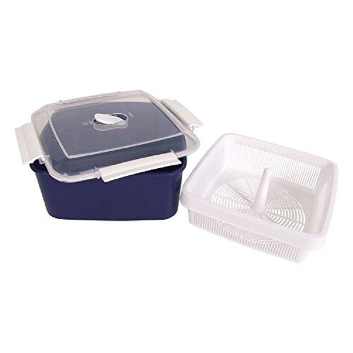 Magnetron Box Met Stomer |Micro Box | Magnetron Stoom Bakje | Microwave Steam Box | Stoomkoker | Blauw kopen