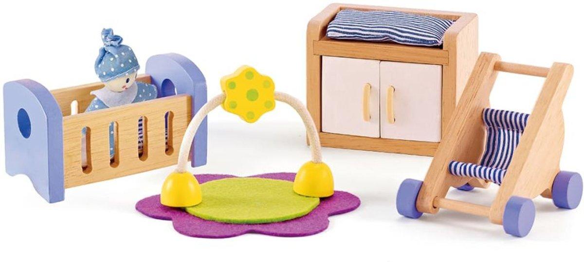 Hape Poppenhuis baby kamer