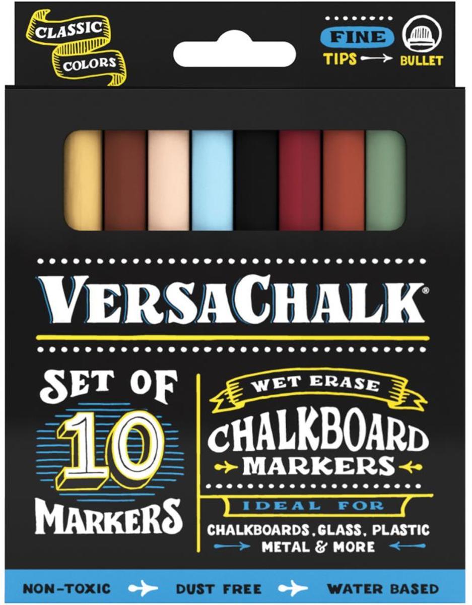 VersaChalk- Liquid Chalkboard Markers - fine - 10 stuks - Gekleurd