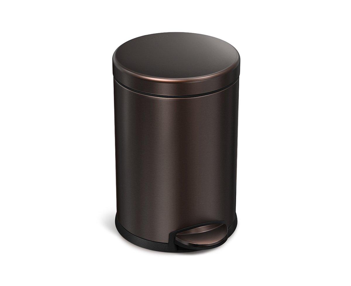Rvs Pedaalemmer Badkamer : Bol simplehuman vuilbak rond rvs liter brons