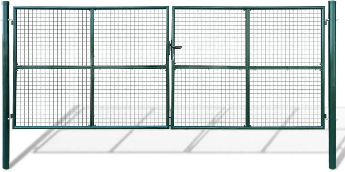 Tuinpoort met gaasmatvulling 415 x 200 cm / 400 x 150 cm kopen