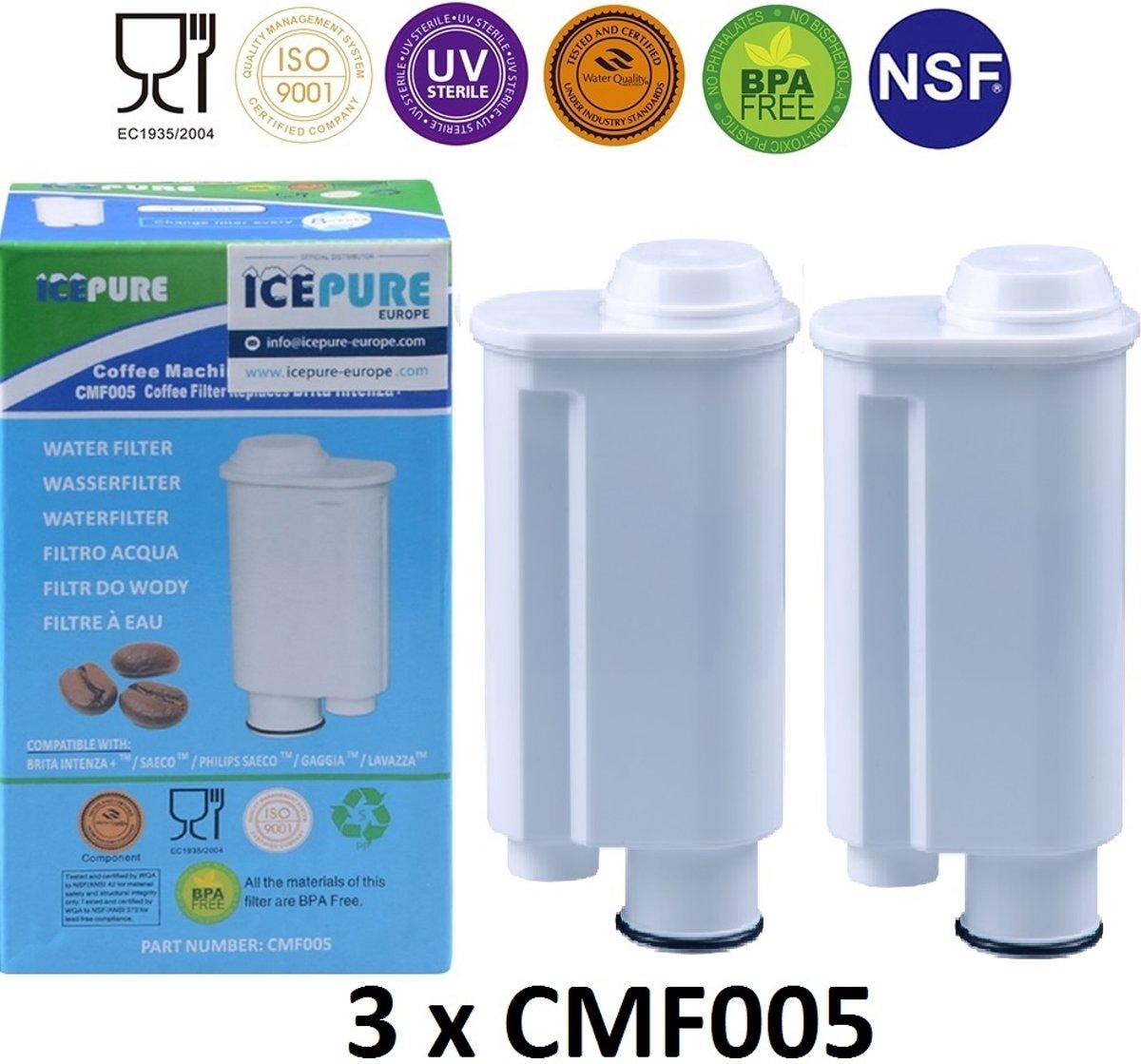 Icepure CMF005 Waterfilter voor Saeco Intenza+ CA6702 - 3 stuks kopen