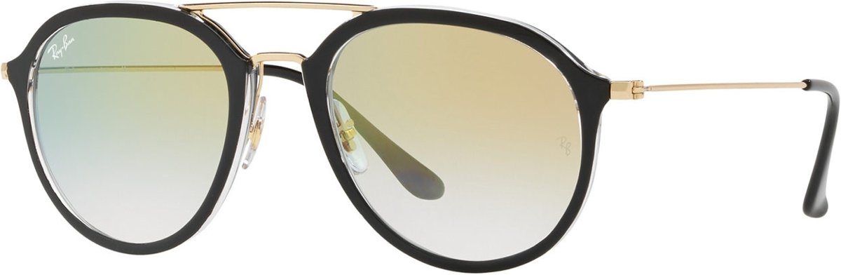 | Ray Ban Top Black On Transparant Zonnebril 0RB4253