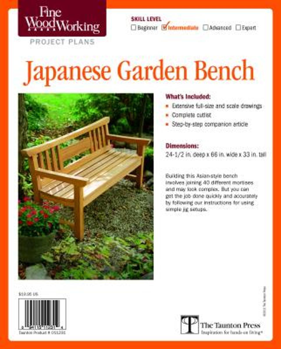Fabulous Bol Com Fine Woodworkings Japanese Garden Bench Plan Inzonedesignstudio Interior Chair Design Inzonedesignstudiocom