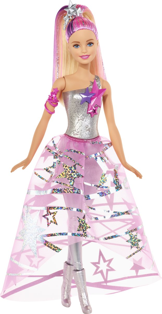 Barbie Star Light Avontuur Barbie In Sterrenjurk - Barbiepop