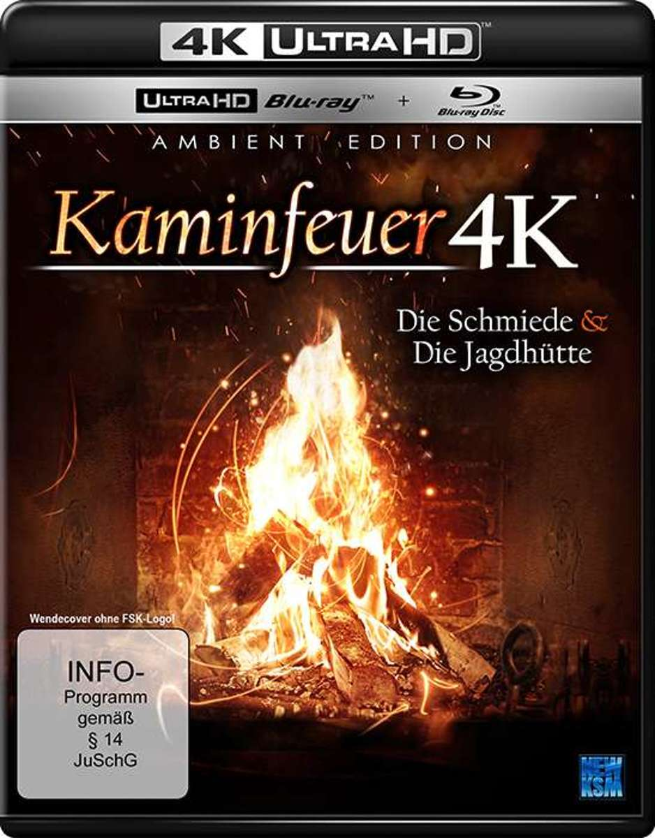 Kaminfeuer 4K - Die Schmiede & die Jagdhütte/2 Blu-ray-