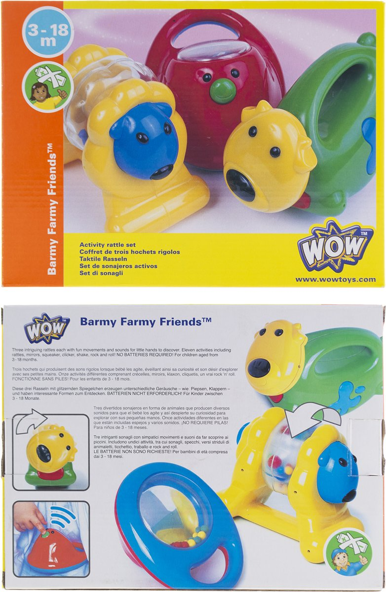 3 ratelaars - Barmy Farmy friends - Wow toys