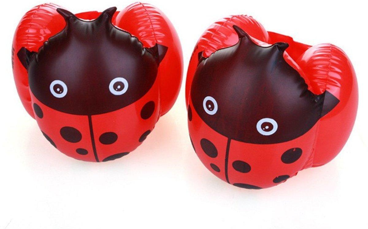 1 paar zwembandjes lieveheersbeestje rood