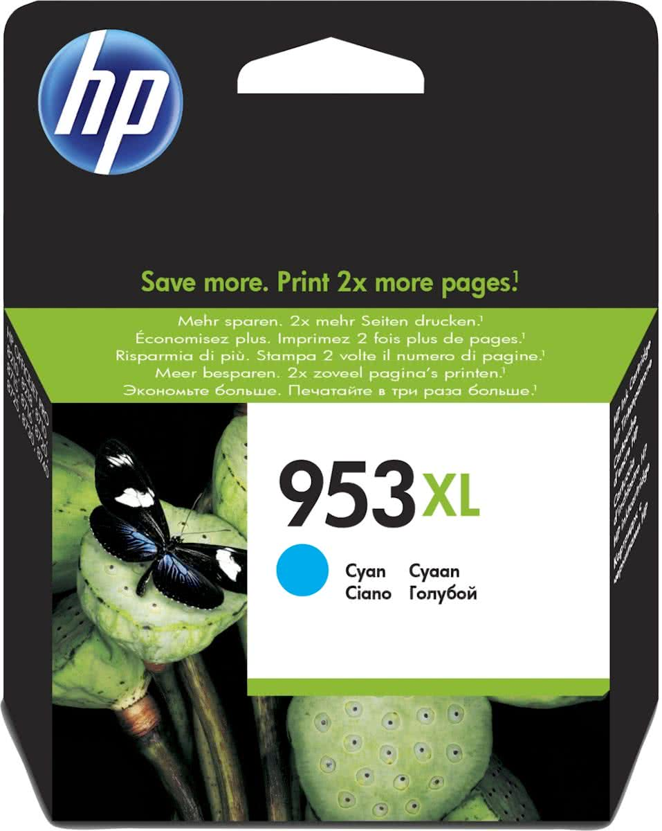 HP 953XL High Yield Original Inkt Cartridge Cyaan Blister