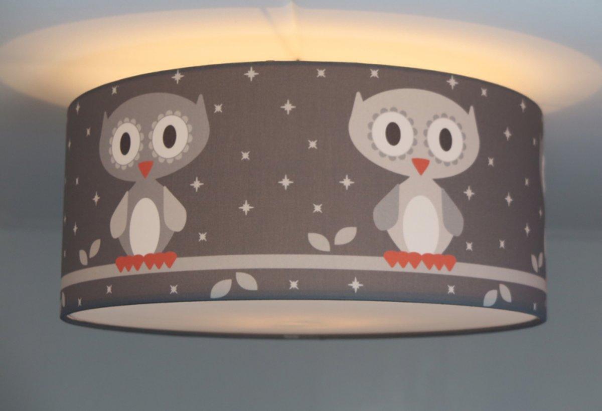 Lamp Babykamer Groen : Bol.com plafondlamp roozje woohoo de uil grijs 35cm