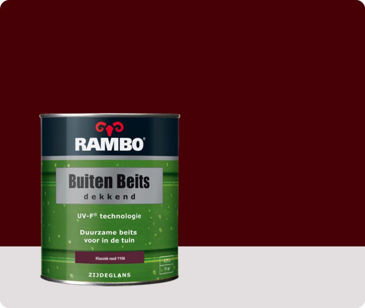 Rambo Buiten Beits Dekkend - 0,75 liter - Klassiekrood