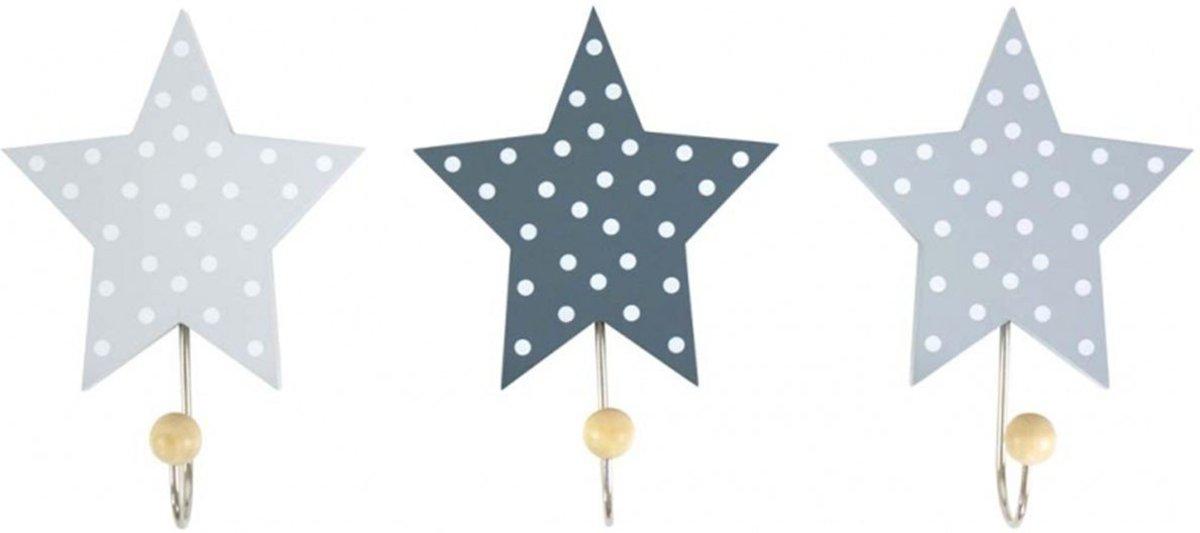Jabadabado kapstok wand haken 3 stuks sterren