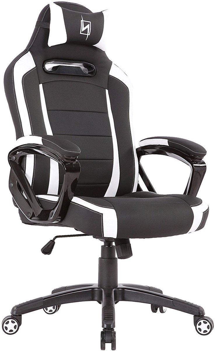 N. Seat Pro 300 Gaming Race / bureaustoel - Wit/Zwart