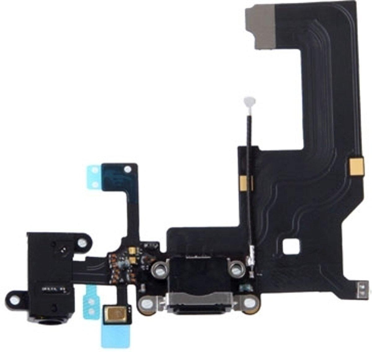 Stationsaansluiting met hoofdtelefoon Jack Flex kabel reparatie voor de iPhone 5 (zwart) kopen