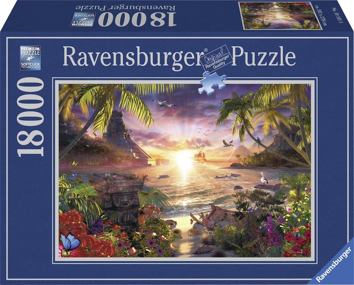 Ravensburger puzzel Lassen Paradijselijke zonsondergang - Legpuzzel - 18000 stukjes