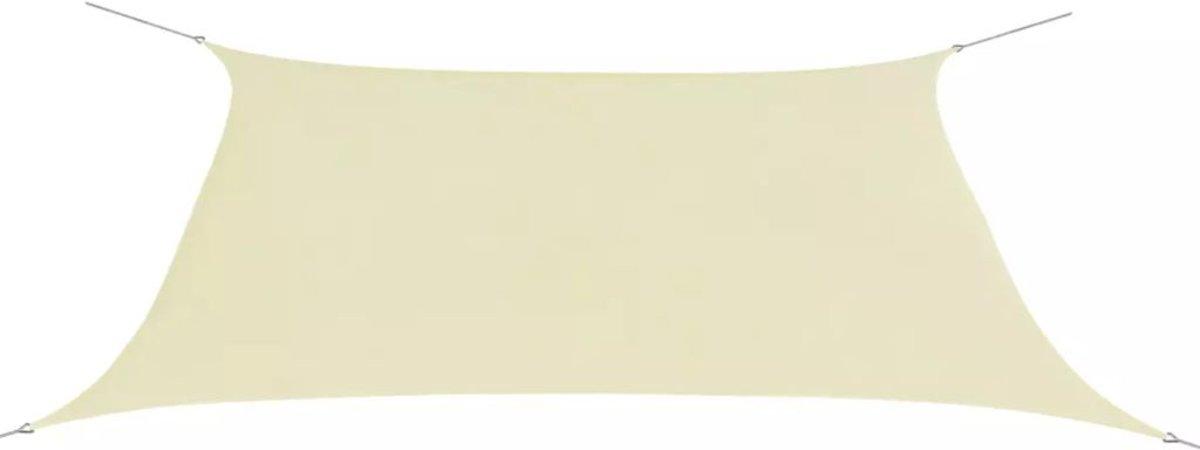 vidaXL Zonnescherm rechthoekig 2x4 m oxford stof crèmekleurig kopen