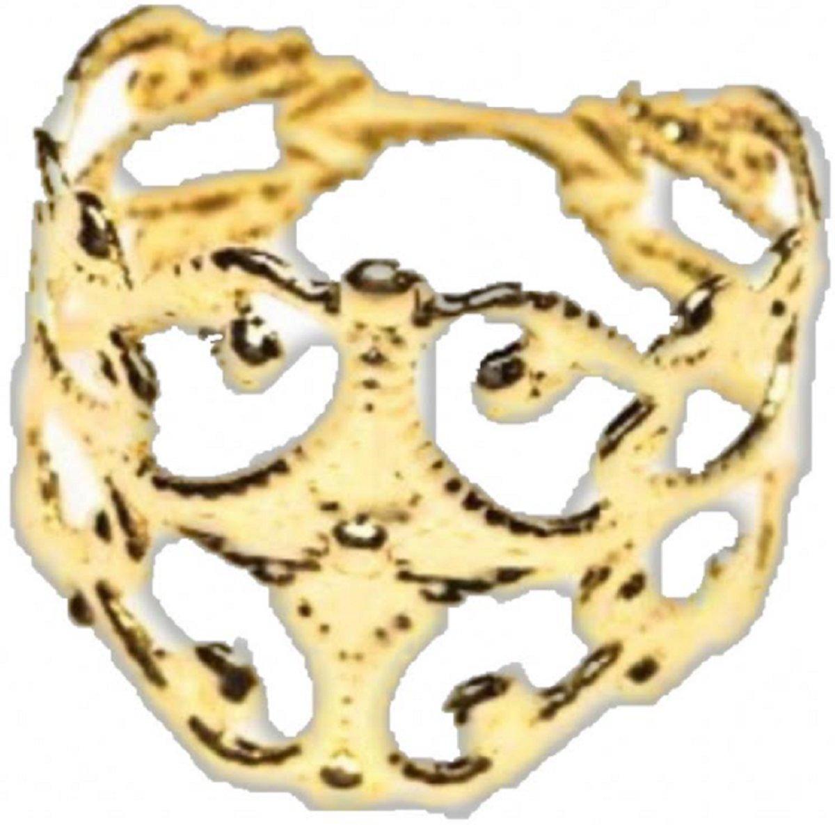 Teenring verstelbaar- 15 mm- goudkleurig kopen
