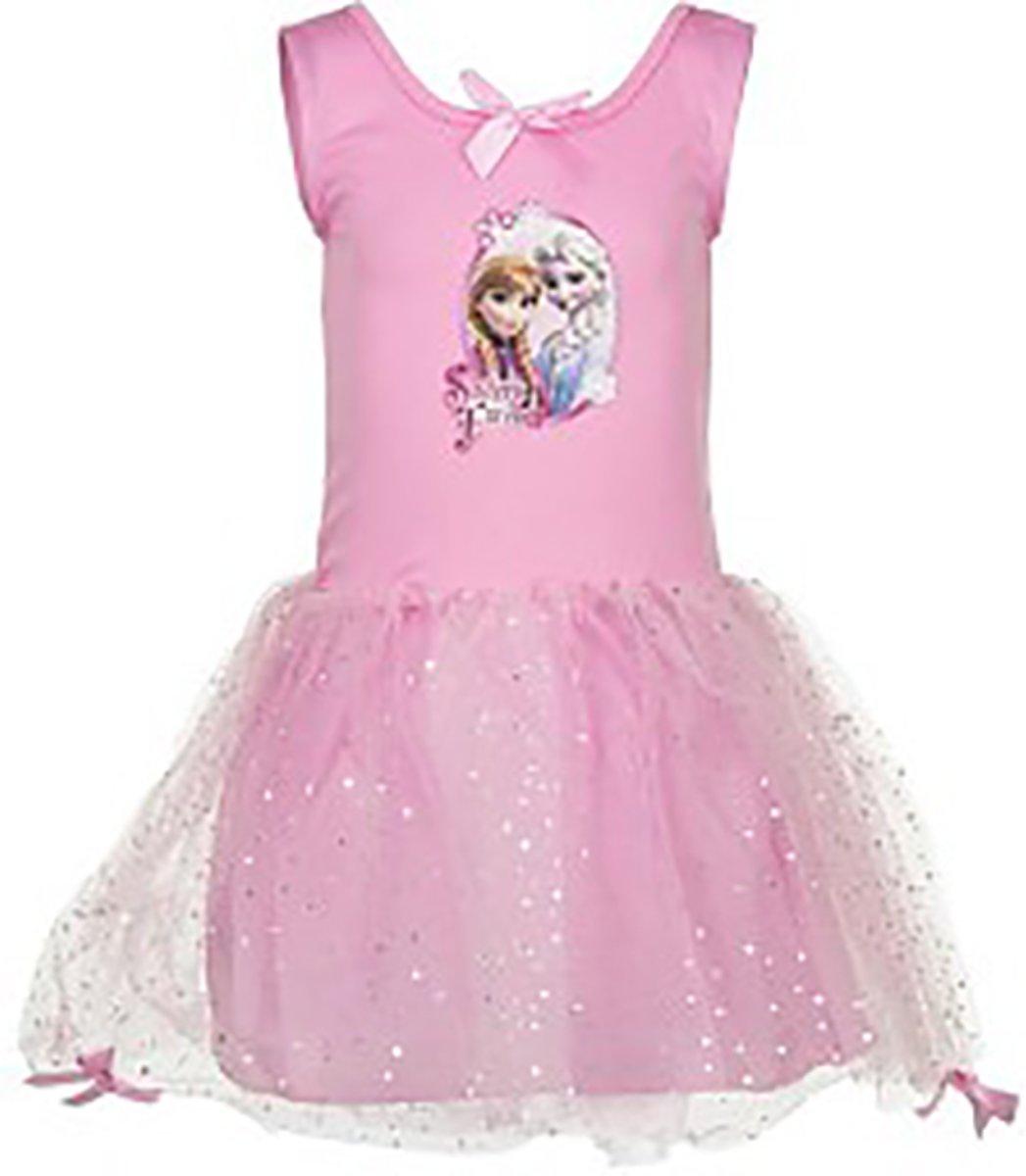 72627e2e57b3b9 Frozen Elsa Anna roze jurk maat 92 98 - Disney ...