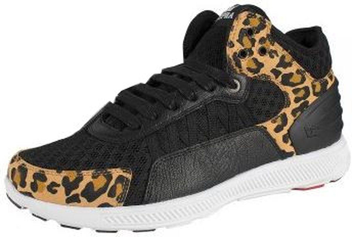 Chaussures Supra Haute Owen Milieu Mens Noir Taille / Guépard 42,5