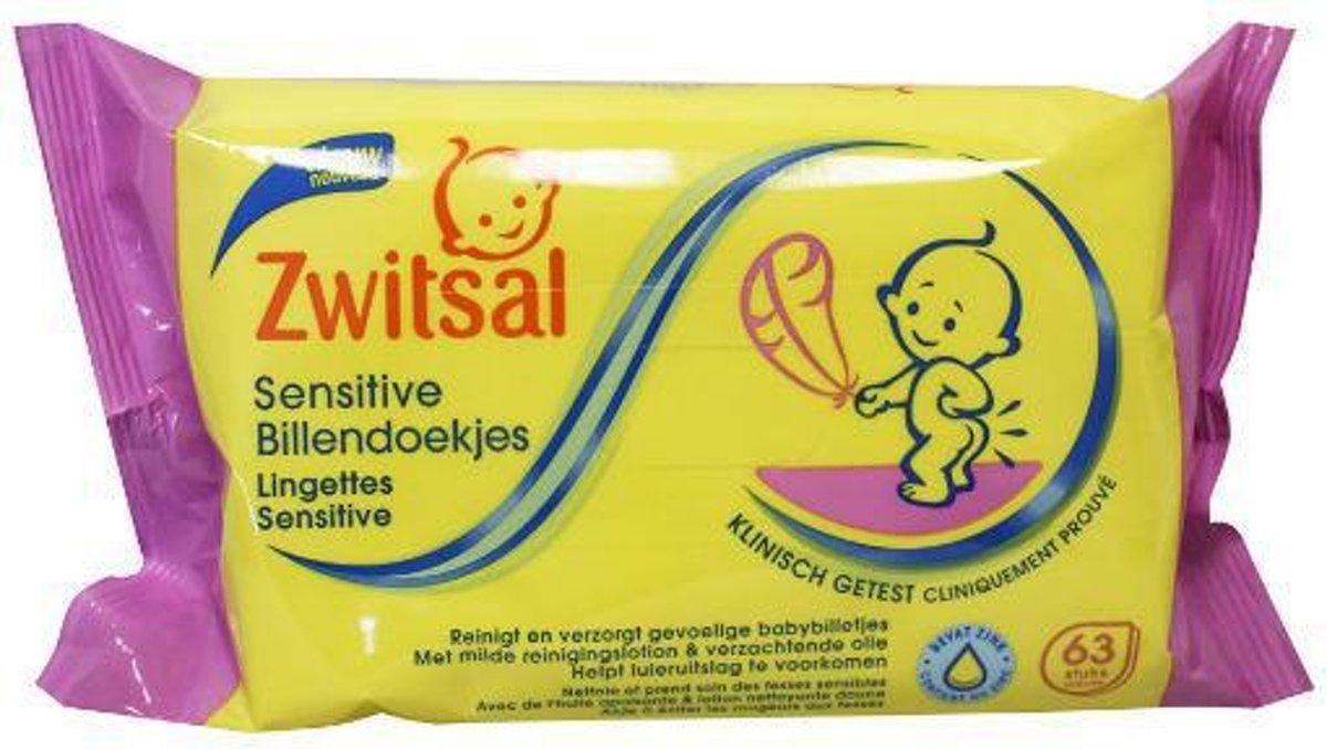 Zwitsal Billendoekjes Sensitive - 63 stuks - Baby kopen