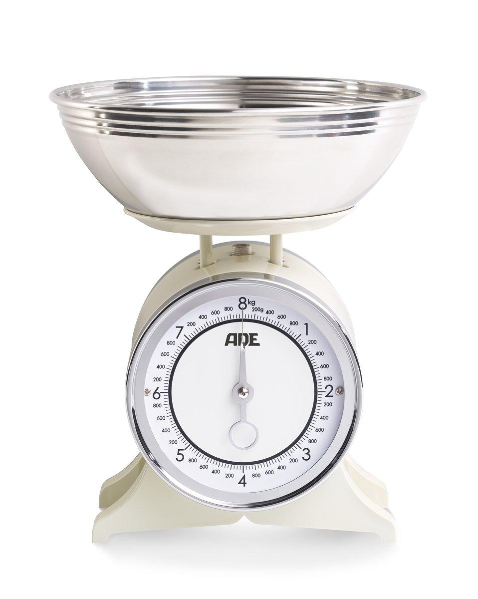 ADE Mechanische Keukenweegschaal 'Anna crème'