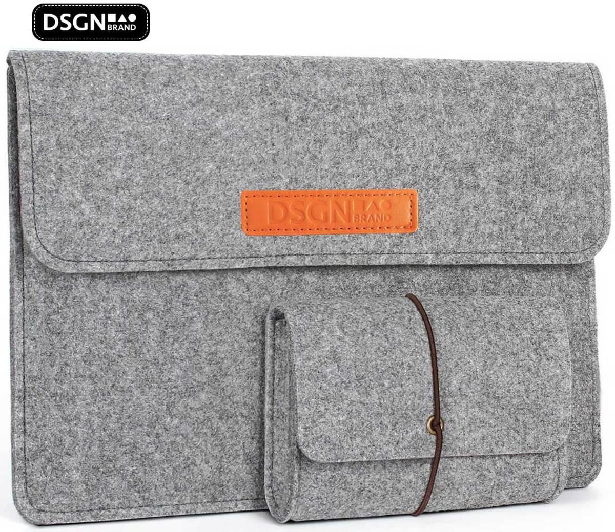 Laptop Vilten Soft Sleeve met Handtas geschikt voor de Apple Macbook Pro (Retina) 15 Inch - 15.4 Laptop Case - Bescherming Cover Hoes - Grijs kopen
