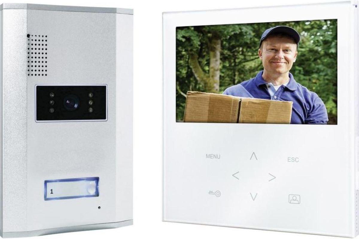 """Smartwares VD71W  - Video deurintercom - 7"""" Flatscreen - 4 draads - 2-weg audio - wit kopen"""