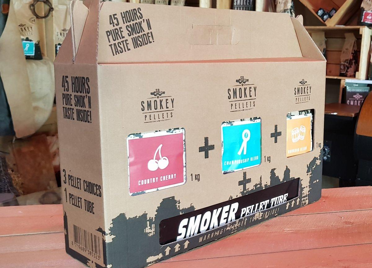 starterpakket smoke tube met 3x1kg smokey pellets kopen