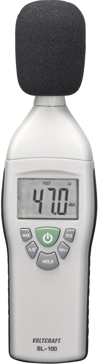 Decibelmeter VOLTCRAFT SL-100 31.5 tot 8 kHz 30 - 130 dB Kalibratie conform Fabrieksstandaard (zonder certificaat) kopen
