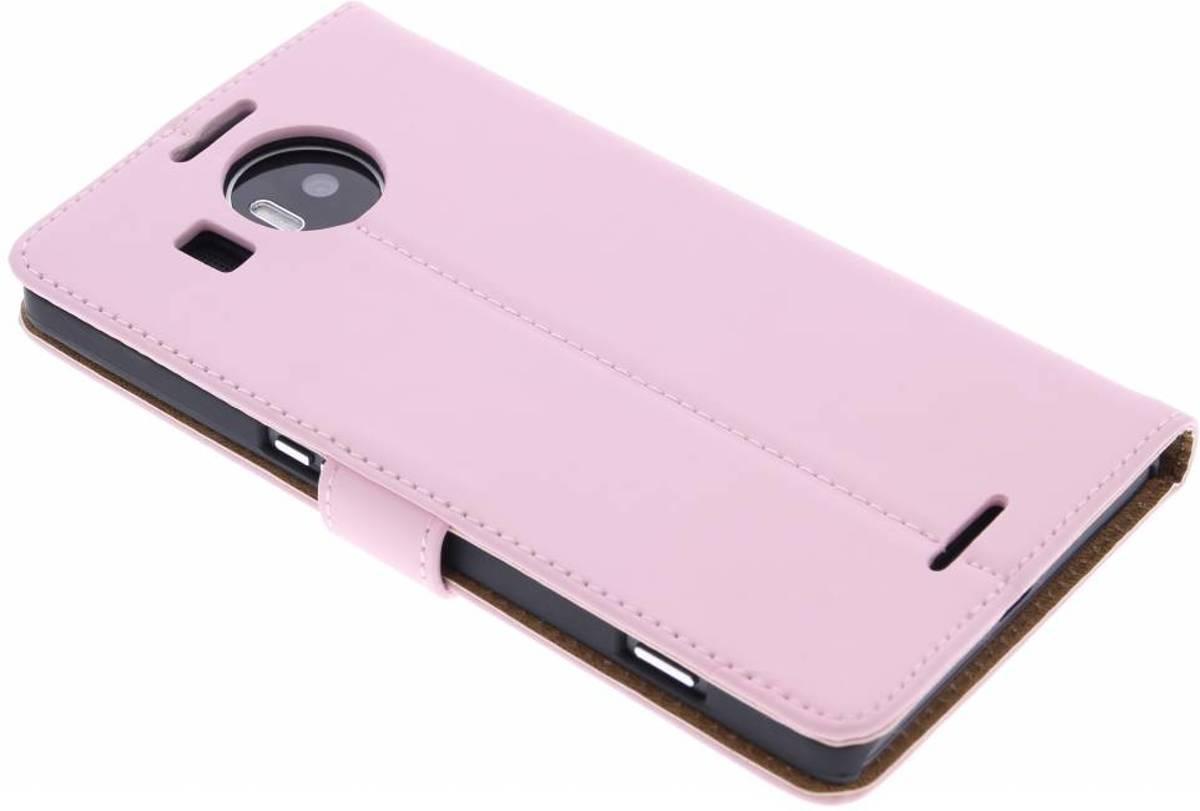 Cas De Livre De Luxe Pour Microsoft Lumia 950 Xl - Poudre Rose bRyMbvo