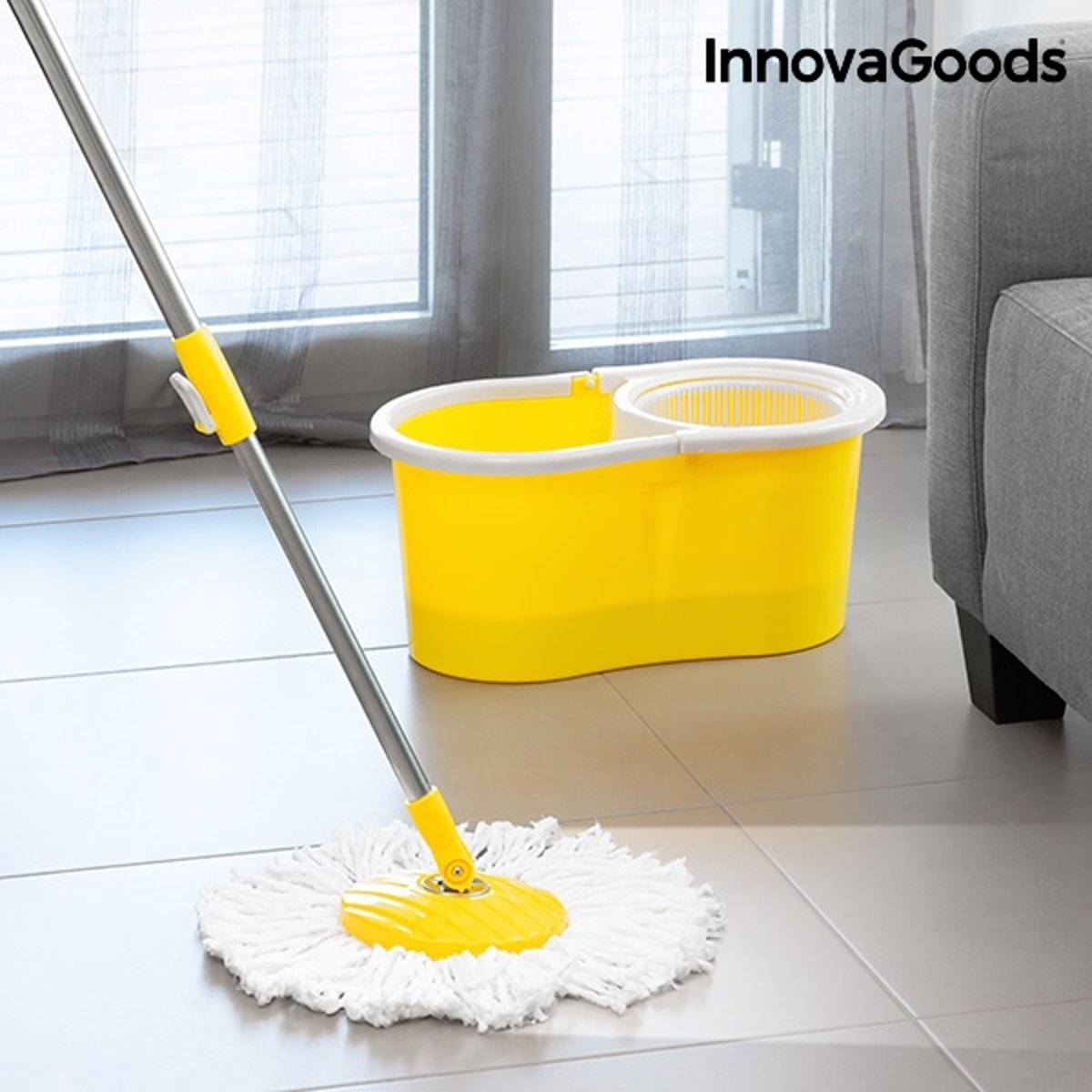 InnovaGoods Double Action Rotating Mop with Bucket kopen