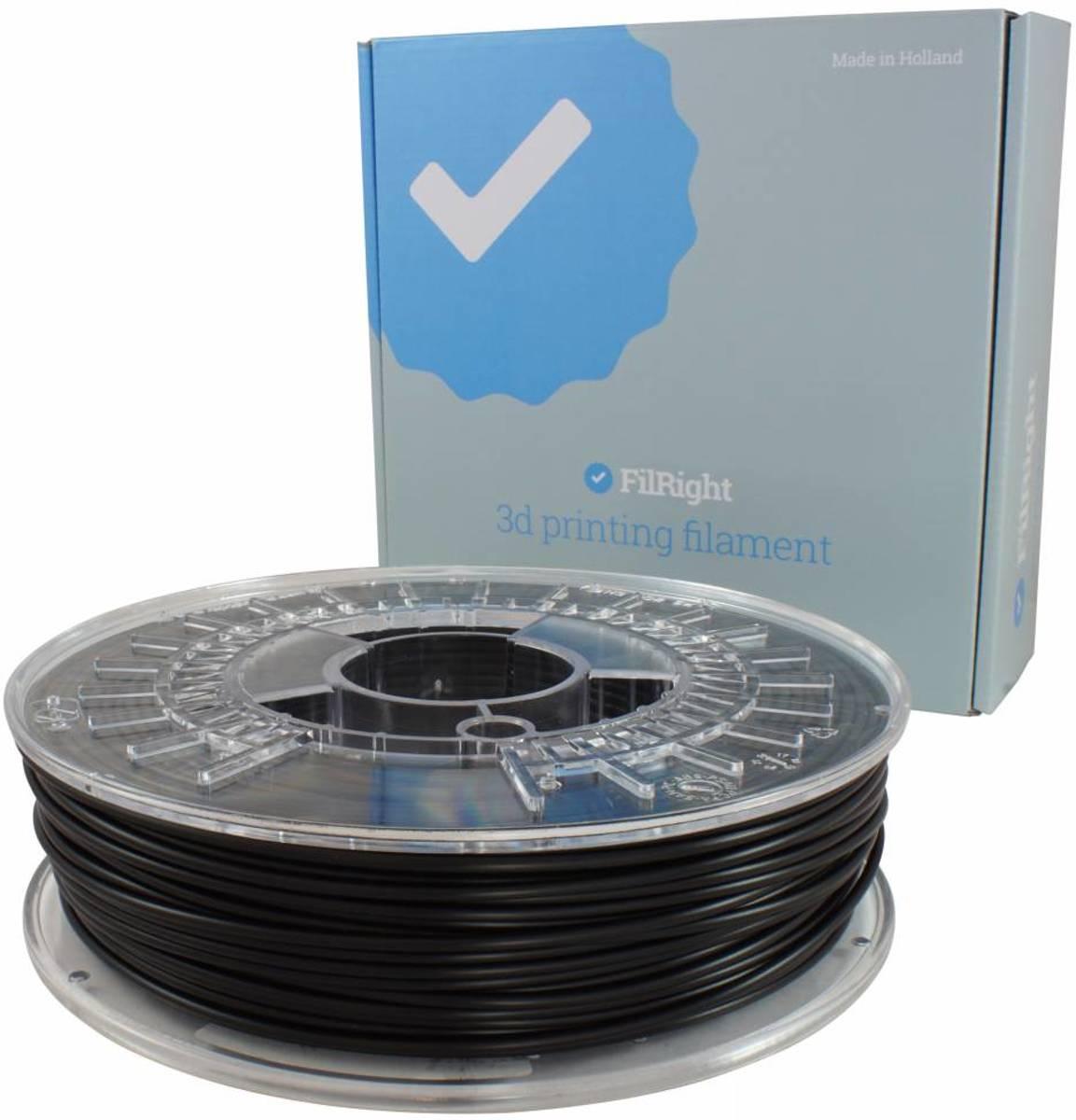 FilRight Engineering TPU Flexibel Filament - 2.85mm - 500 g - Zwart
