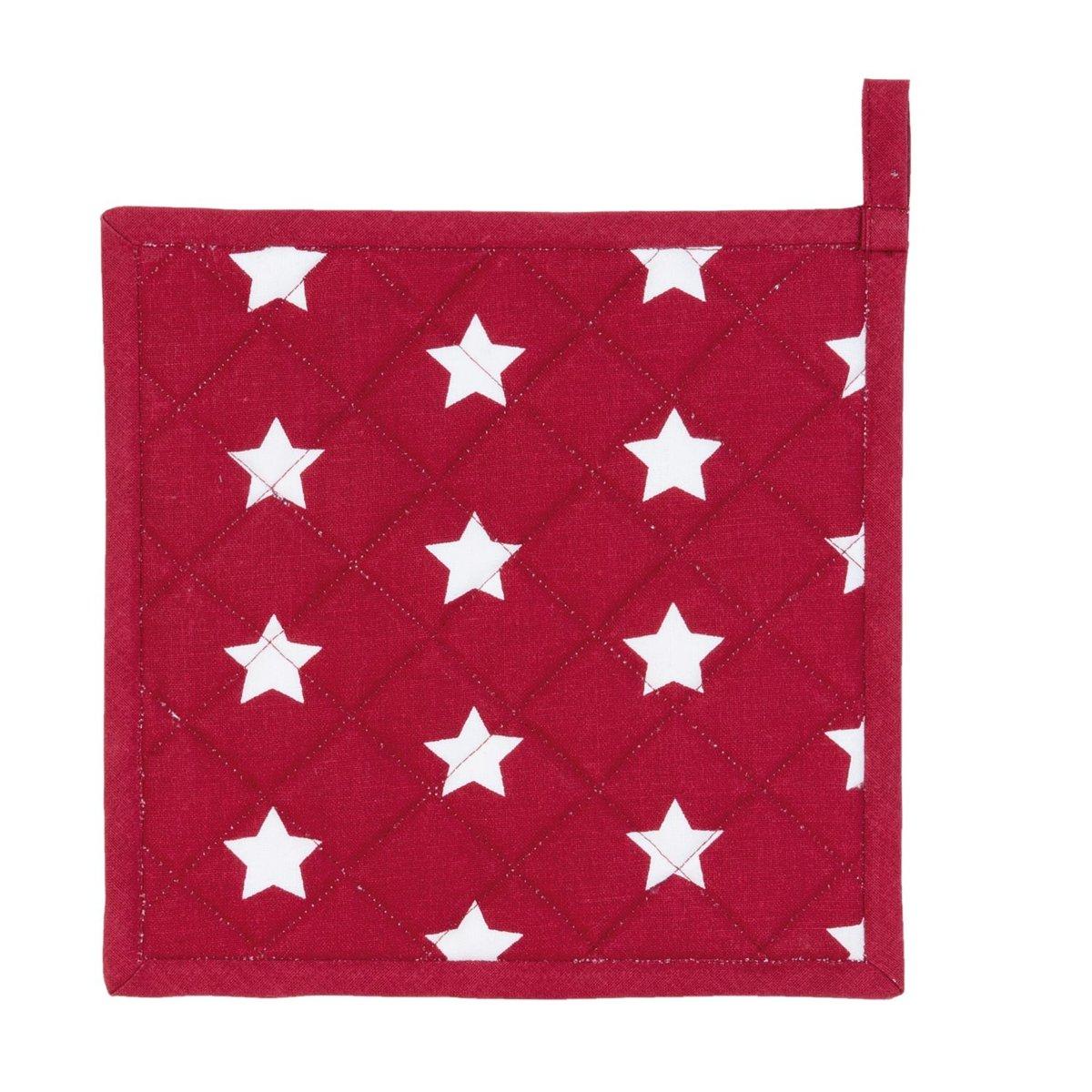 Pannenlap - 20 x 20 cm - rood/wit - Stars kopen
