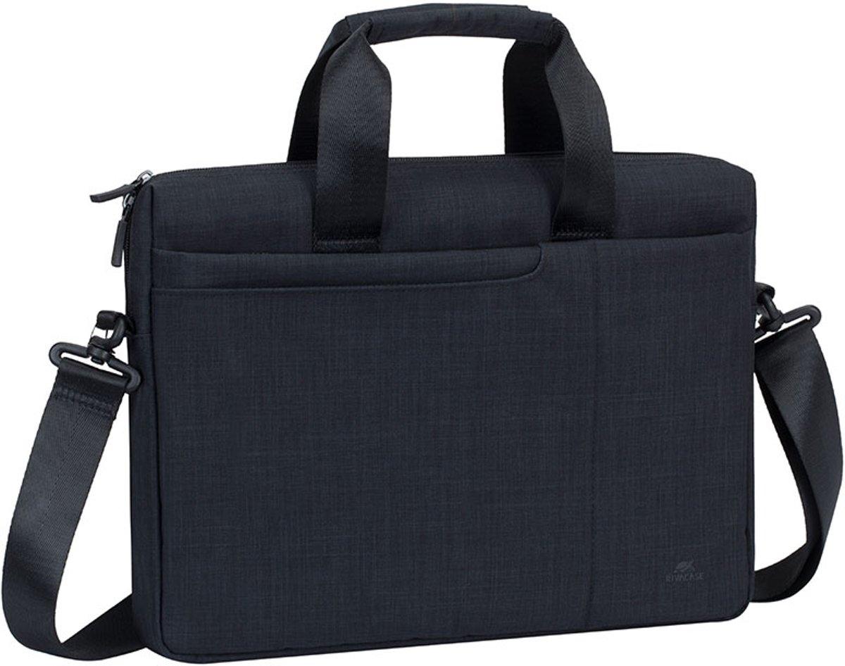 RivaCase 8325 - Laptop Schoudertas - 13.3 Inch - Extra vak voor 10.1 Inch tablet - Zwart