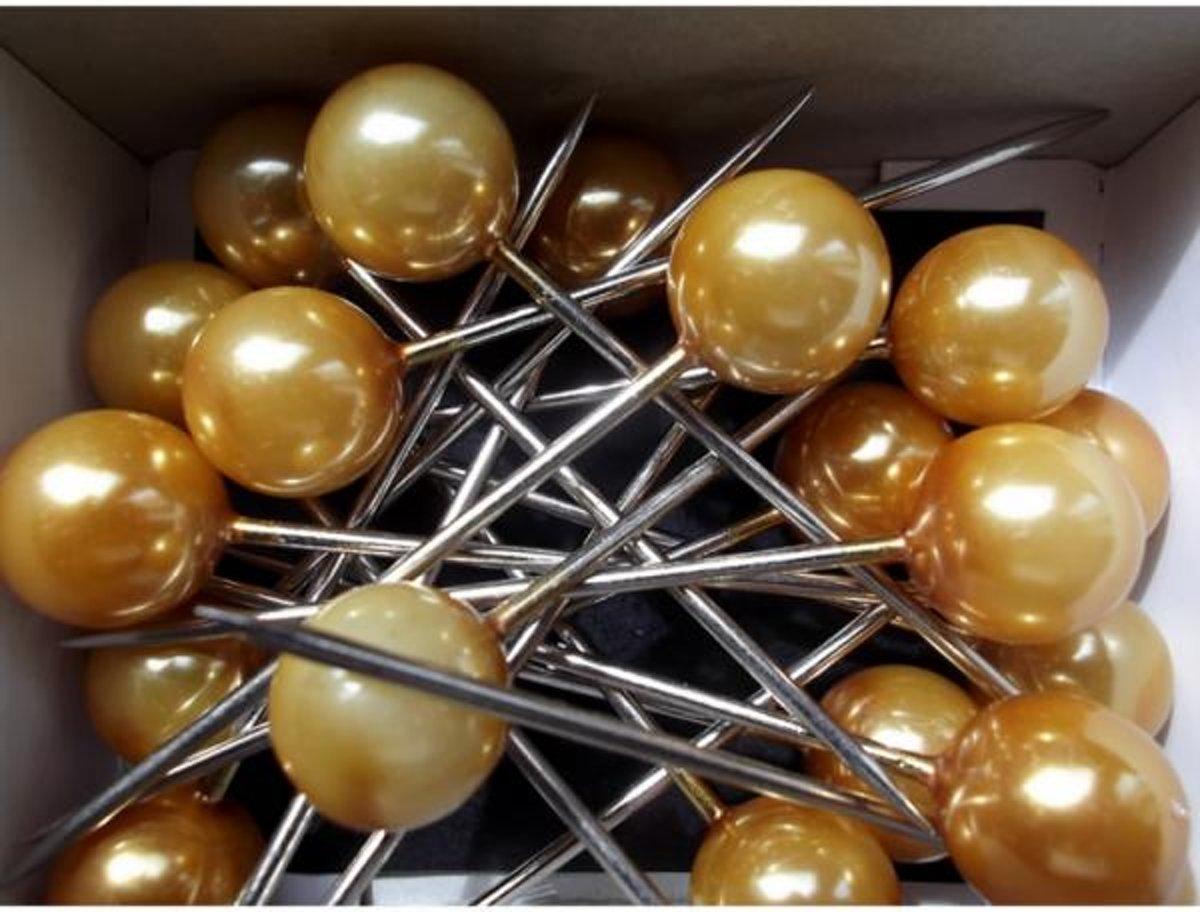 Corsagepins goud - set van 40 stuks kopen