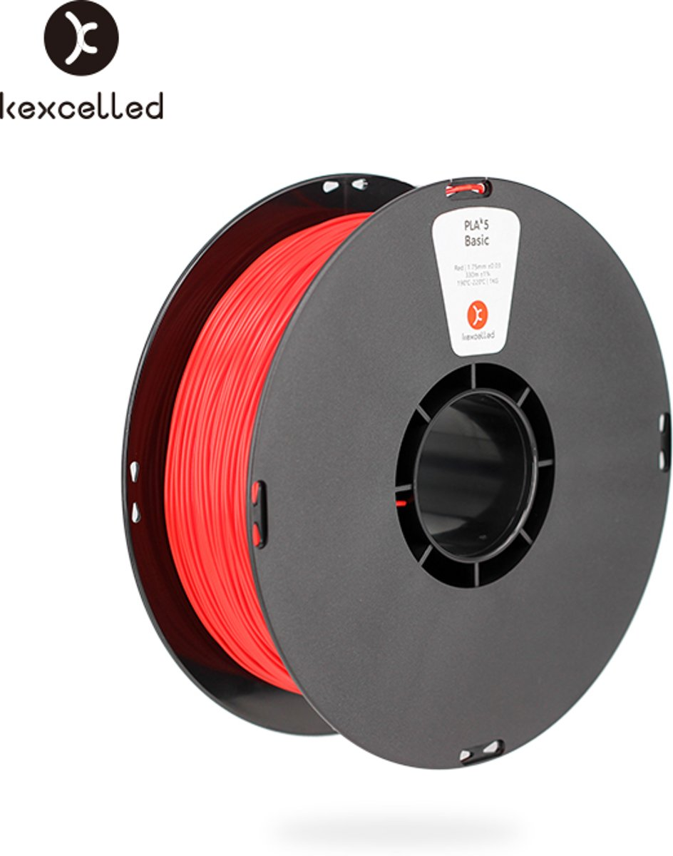 kexcelled-PLA-1.75mm-rood/red-1000g(1kg)-3d printing filament