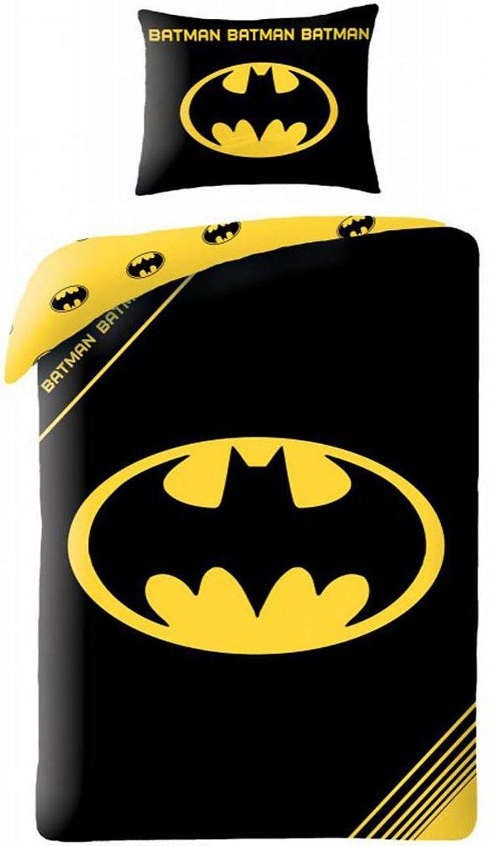 Batman Logo Dekbedovertrek - Eenpersoons - 140x200 cm - Multi kopen
