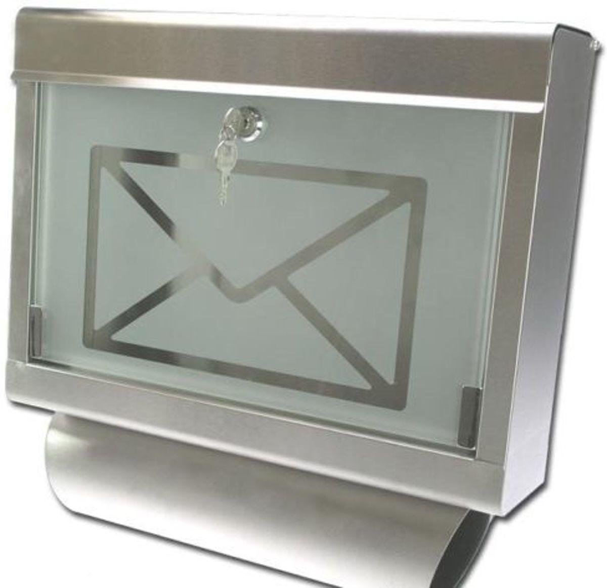 brievenbus rvs met glas