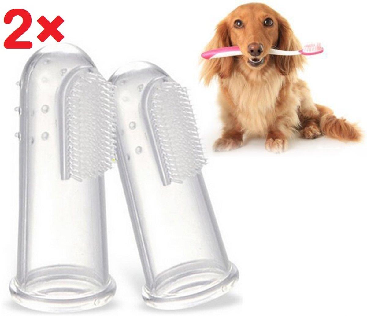 Dieren tandenborstel - vingertandenborstel- huisdier  - honden - katten - gezondheid - poetsen - tandvlees - dieren verzorging - huisdieren tandenborstel kopen