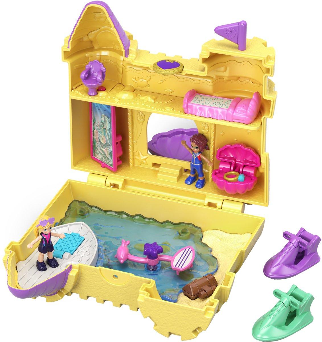 Polly Pocket Pocket World Zandkasteel - Speelfigurenset