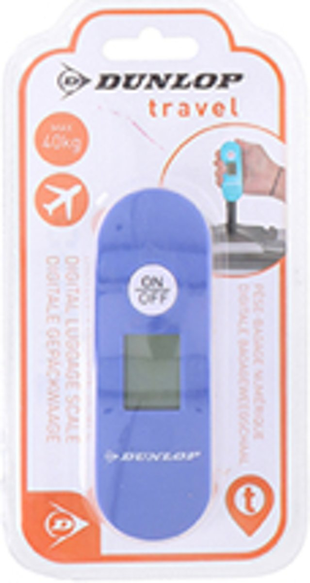 Dunlop Premium Travel Digitale Bagageweegschaal | Digital Luggage scale | Koffer/ baggage  weger | Tot wel 40 KG wegen | Kleur: Donkerblauw | kopen