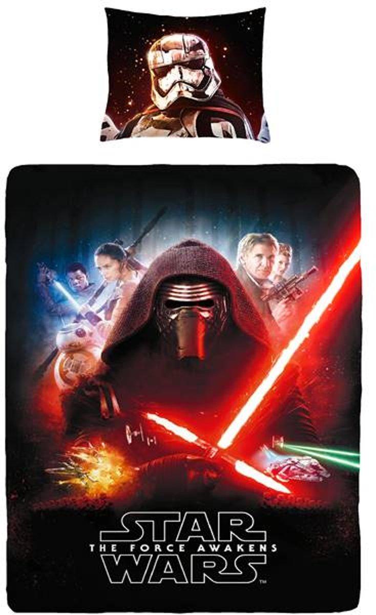 Star Wars - Dekbedovertrek - Eenpersoons - 140x200 cm + 1 kussensloop 60x70 cm - Red kopen