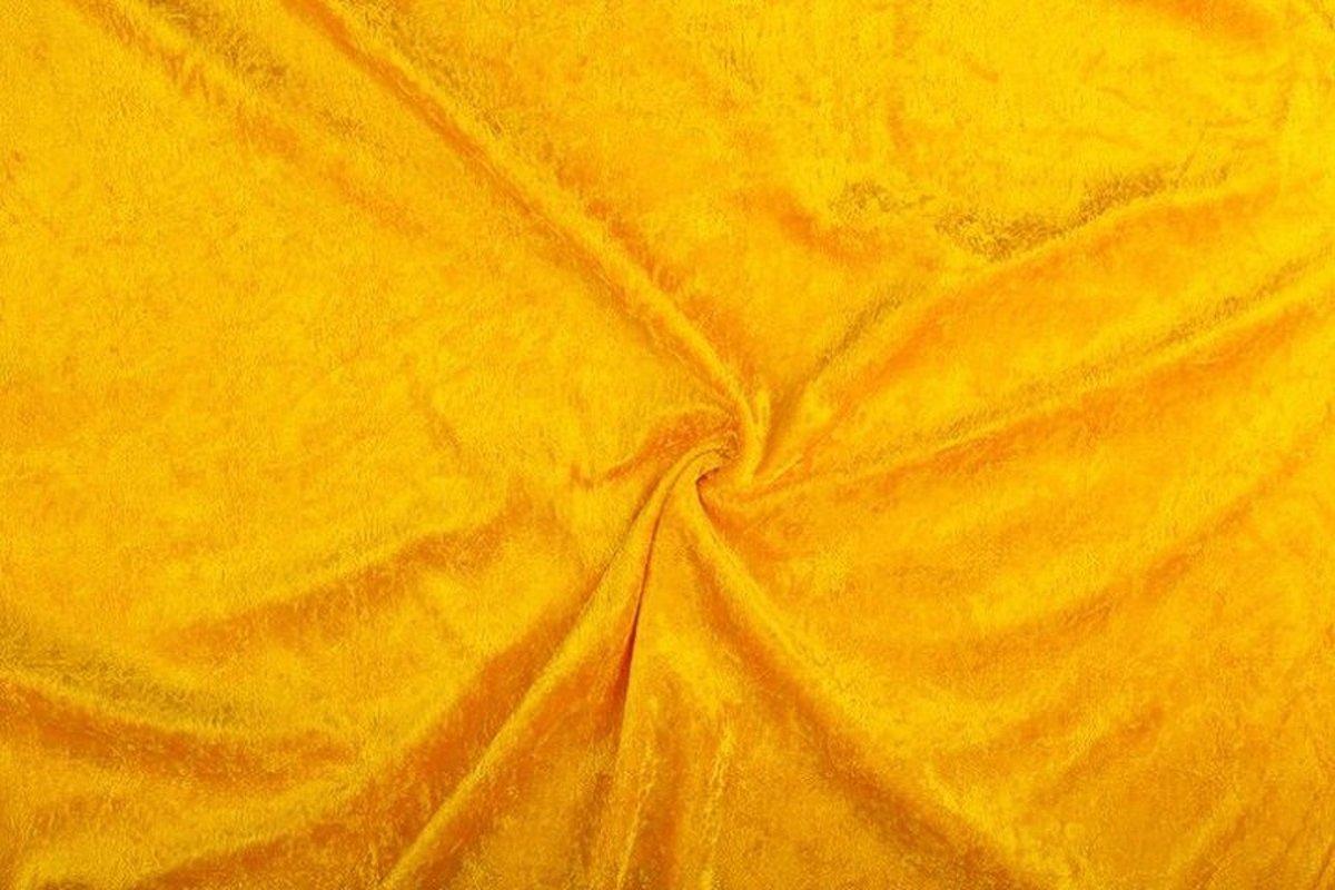 Afbeelding van product Velours de panne stof - Okergeel - 10 meter