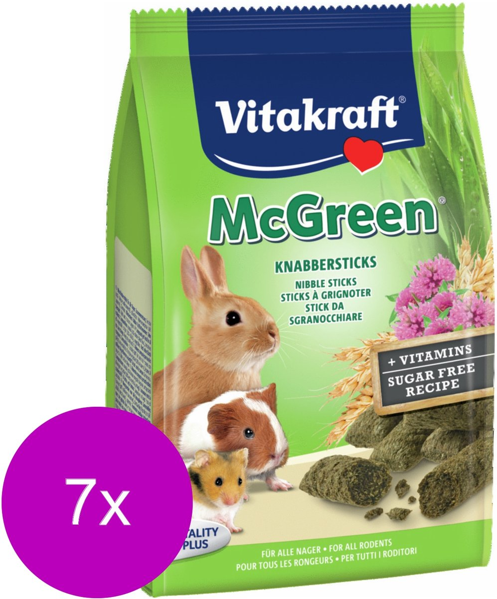 Vitakraft Knaagdier Greenies - Konijnensnack - 7 x 50 g