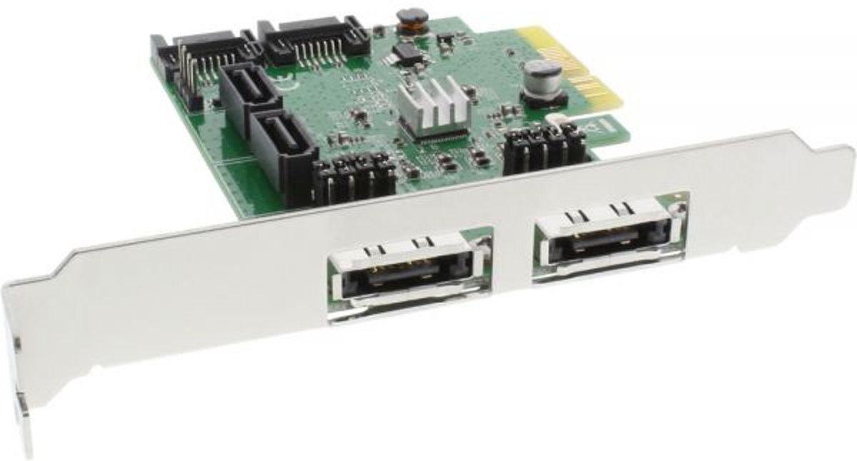 InLine PCIe kaart - 2x SATA + 2x SATA/eSATA RAID Controller kopen