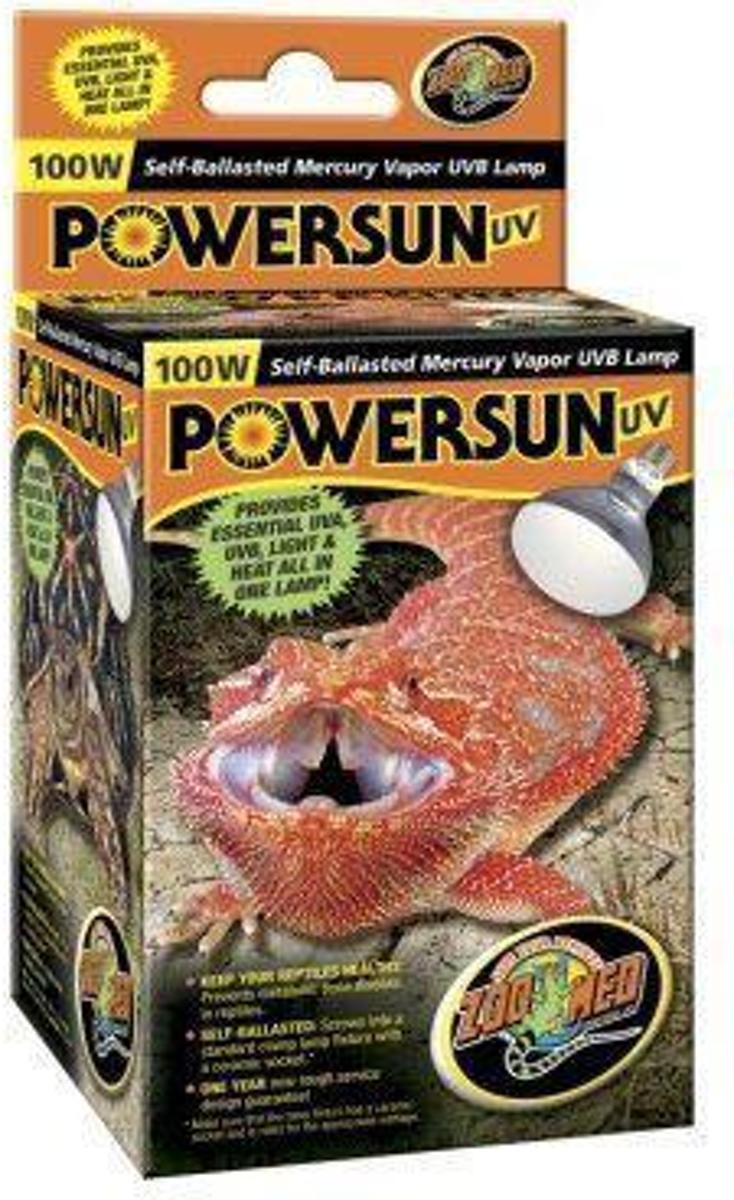 ZM Powersun UV Self Ballasted Mercury Vapor Lamp - 100 w.
