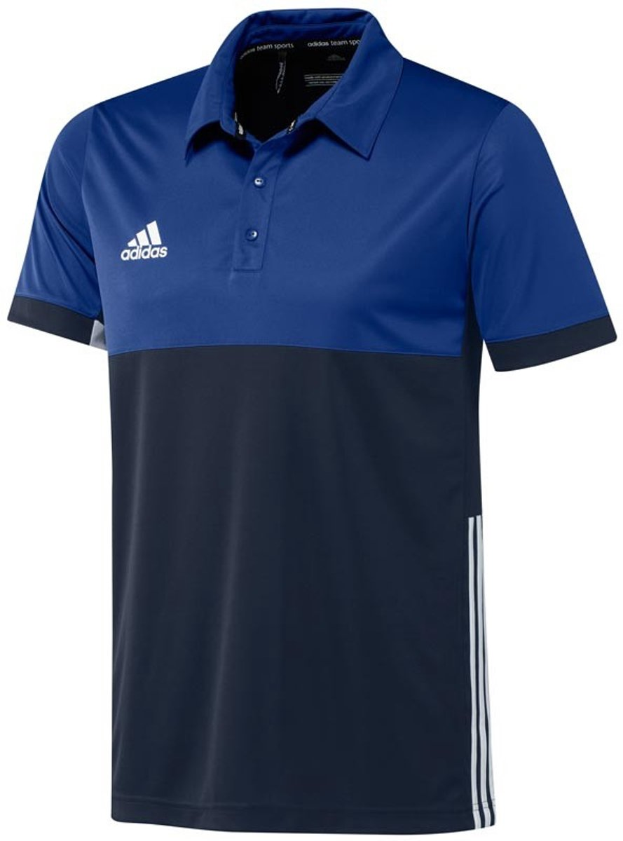 Adidas T16 'Oncourt' Polo Heren Shirts blauw donker M