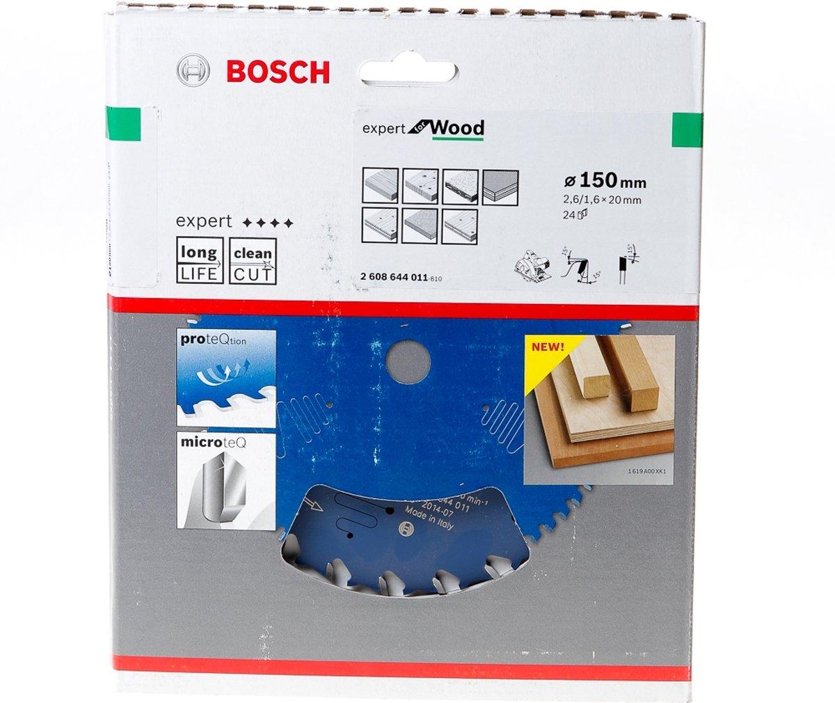 Bosch Cirkelzaagblad 24 tanden Wood ABT 150 x 20 x 2.6mm
