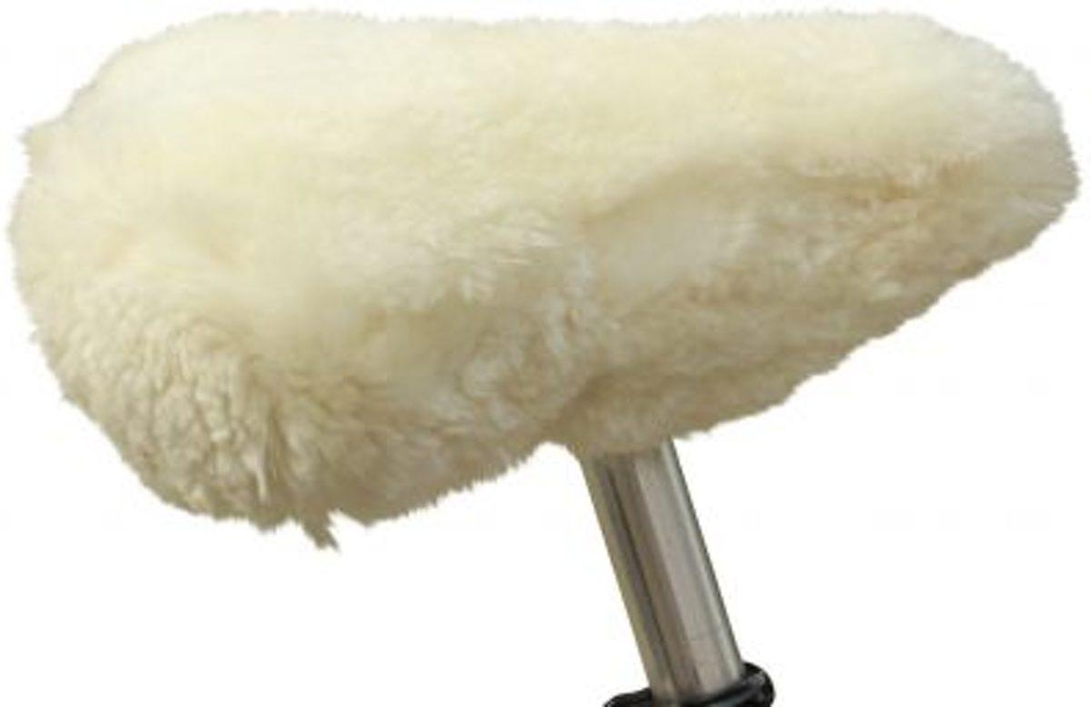 Fietszadel dekje zadel hoes schapenvacht medicinaal